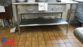 Stainless Steel Table w/2 Drawers