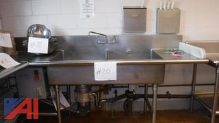 Stainless Steel Sink Unit 2 Bowls