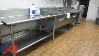 Stainless Steel Sink Unit 3 Bowls