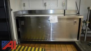Stainless Steel Cabinet w/Doors