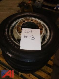 (3) Goodyear Tires with Rims
