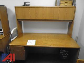(6) Assorted Desks and (1) Lighted Drafting Table