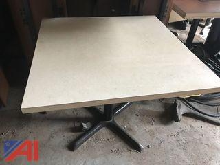 (10) Square Restaurant Tables