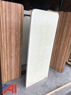(10) Slant Back Wood Booths