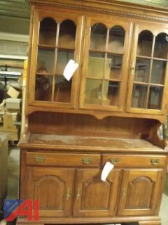 China Cabinet and Cabinet with Drawers