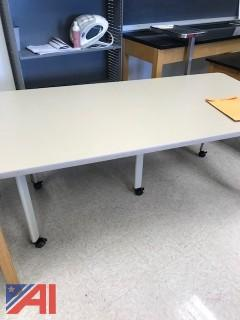 (1) 3' x 6' Table on Wheels