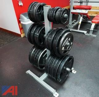 Plate Weight Stand & Plates