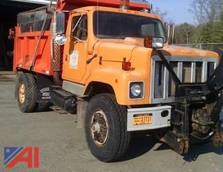 1996 International 2554 Dump Truck with Plow and Sander