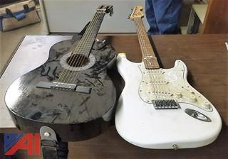 (2) Assorted Guitars