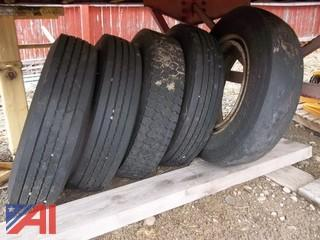 (5) 245/75/22.5 Tires