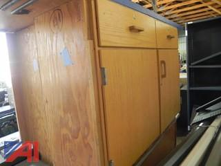 Pair of Wooden Cabinets w/ Counter on Top (#5)