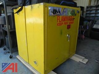 (2) Metal Flammable Storage Units (#7)