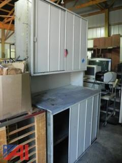 Metal Work Table and Storage Unit (#16)