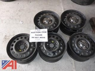 "(5) 16"" Steel Wheel Rims"