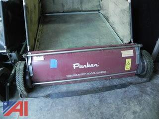 "Parker Suburbanite 36"" Turf Sweeper"