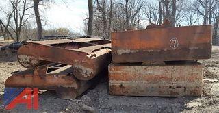 (4) Steel Pontoon Sections (Scrap Metal)