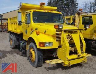 1998 International 4900 4x2 Dump Truck & Plow Frame