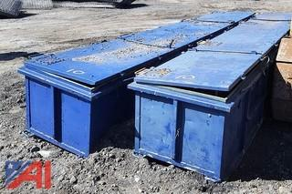 (2) Aluminum Storage Boxes