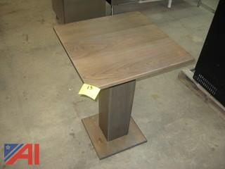 (1) Oak Pedestal Bistro Tables