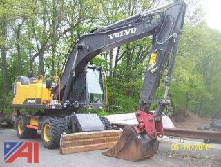 **4% BP** 2016 Volvo EW180E Wheeled Excavator