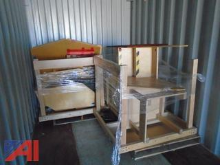 (2) Pallets of Indoor Wooden Playhouse Equipment