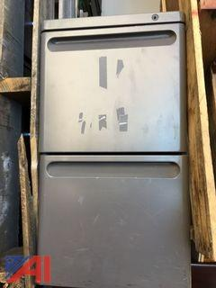 (2) Short Metal File Cabinets
