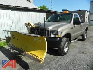 2002 Ford F250 SD Pickup with Plow