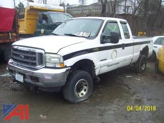 2002 Ford F250 4x4 Ext Cab Pickup