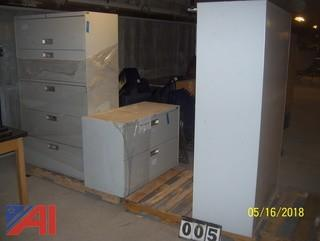 (3) Lateral File Cabinets