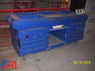 PVC Rolling Serving Cart
