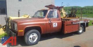 1987 GMC Sierra 3500 Utility Flat Bed Pickup Truck