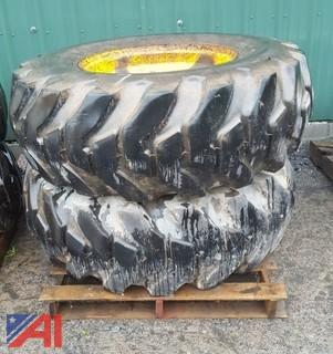 (2) John Deere Loader Tires