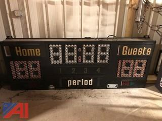 Nevco High School Gym Scoreboard