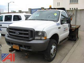2004 Ford F550 Flat Bed Truck #7003