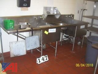 Sink Unit with Rolling Cart