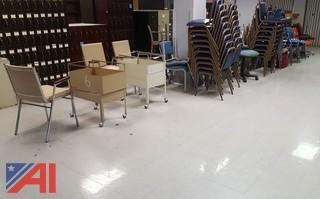 Large Lot of Assorted Chairs & More