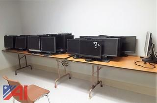 Assorted Computer Monitors & HP Printers