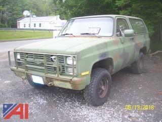1985 Chevy D10 Military Blazer SUV