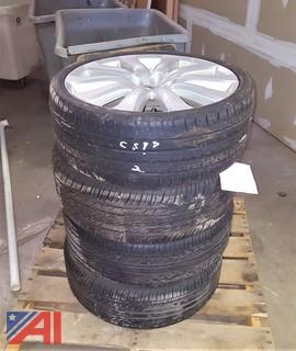 (4) Tires on Rims