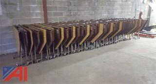 (27) Folding Tables on Wheels