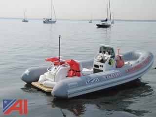 1996 Nautica 17' Inflatable Jet Boat with Trailer