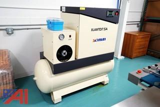 Xlamtd 7.5 HP Screw Air Compressor/Air Dryer, XLAMTD7.5A