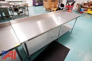 Regency 8' 304 S/S Commercial Work Table