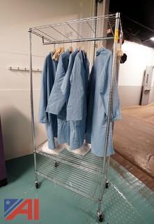 Lot Shelving Unit & Lab Coats