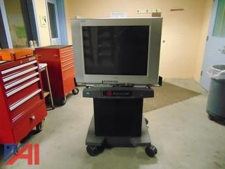 Sony TV w/ VCR, DVD, and Stand