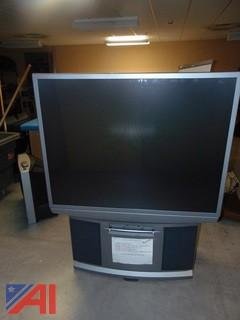 Apex 51 inch Projection TV on Wheels