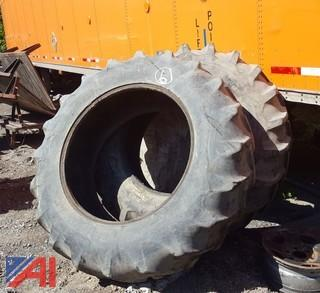 (2) Power Grip 30 Tractor Tires