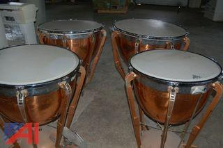 (4) Ludwig Kettle Drums