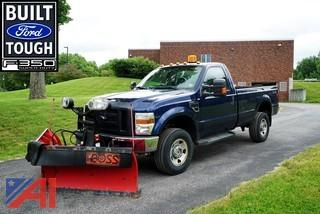 2010 Ford F350 XL SD 4WD Pickup Truck with V-Plow