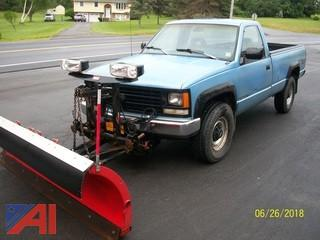 1992 Chevy C/K 2500 Pickup with Plow